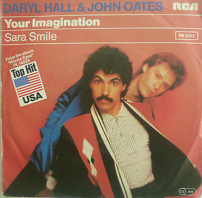 "7"" 1981 ! HALL & OATES : Your Imagination // MINT-? \"