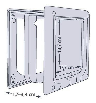 NEW 4 Way Locking Extra Large Cat Flap With Tunnel