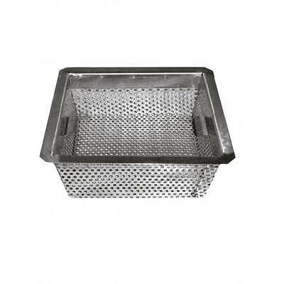"Floor Sink Basket, Drop-In Stainless Steel - 8-1/2"" x 8-1/2"""