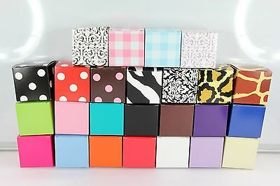 2'' Cube Wedding Bridal Baby Shower Party Favor Treat Candy Gift Boxes 2x2x2 10x