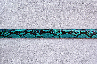 GENUINE TURQUOISE PYTHON SNAKE SKIN WOMENS BELT ALL SIZES ARE AVAILABLE NEW