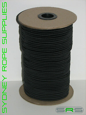 6Mm X 100Mtrs Black Shock Cord/bungee Cord,excellent Quality And Value