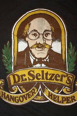 XS * WASTED vtg 80s HANGOVER HELPER Dr Seltzers T SHIRT * alcohol