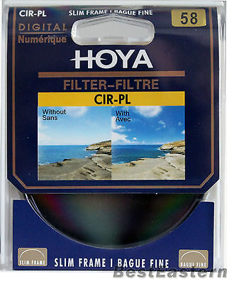 Hoya 58mm Slim CPL Circular Polarizing / Polarizer CIR-PL Filter