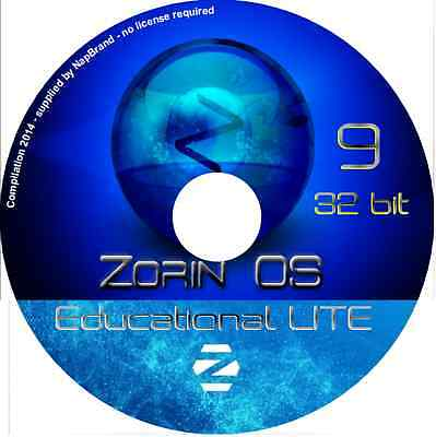 LATEST NEW ZORIN OS 12 4 Core - 32 or 64 Bit DVD Easy Linux