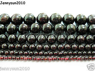 Natural Dark Red Garnet Gemstone Round Beads 15'' 2mm 3mm 4mm 6mm 8mm 10mm 12mm