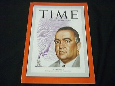 1949 AUGUST 8 TIME MAGAZINE - J. EDGAR HOOVER - FRONT COVER - G199