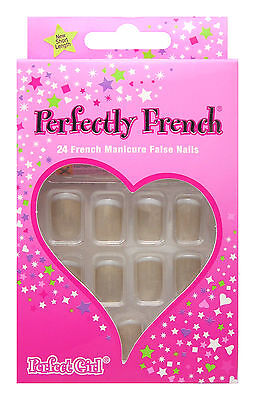 Perfect Girl Girls False Nail Tip French Cappuccino Nails Coffe Brown Short Tips