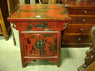 Commode ancienne en pitchpin et marbre 1900 for Meuble bar chinois