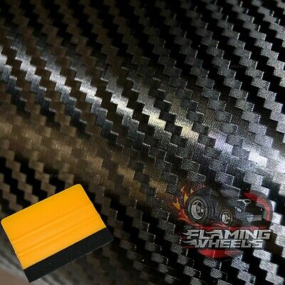 1.5m x 2m Carbon fibre wrap vinyl 3D BLACK MATT HQ car sticker matte bonnet roof