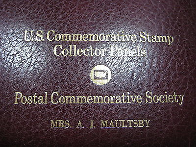 54 US Commemorative Stamp Collector Panels in Postal Commemorative Society Binde
