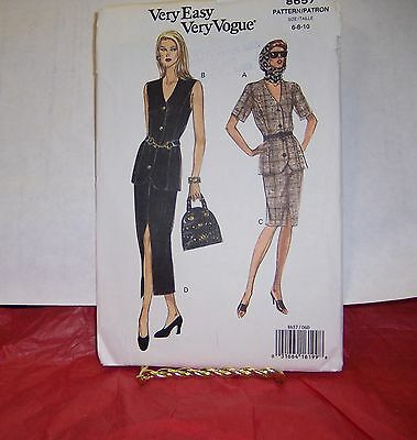 Vogue 8657 Very Easy Very Vogue Miss/MP Top & Skirt Pattern 6-10