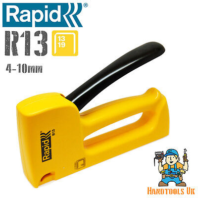 Rapid R13 Fineline Ergonomic Hand Tacker / Stapler / Staple Gun