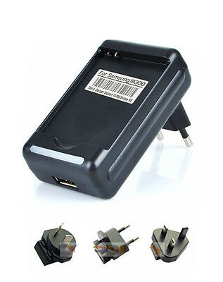 USB Battery Dock Wall Charger For Samsung Galaxy S 3 SIII i9300 +US AU EU UK Pin