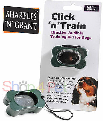 Puppy Training Clicker Click 'n' Train Audible Aid For Pet Dogs Acoustic Sounds