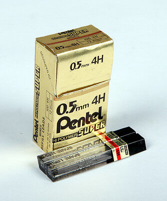 Pentel Leads 0.5mm 4H ( 2 x tubes of 12)