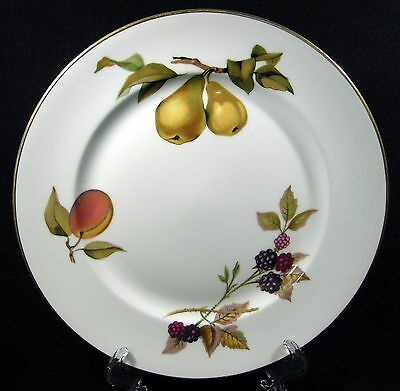 Royal Worcester Evesham Gold Salad Plate(s)  Peach Pears EUC