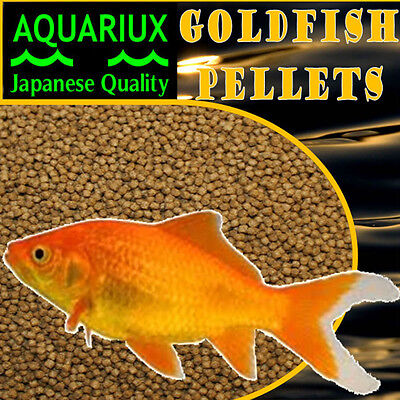 Aquariux goldfish pellets premium grade pond or tank fish food gold fish sinking