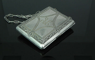 WHSCO Antique German Silver Coin and Cigarette Case