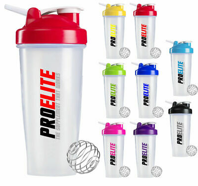 Shaker Mixer Cup - Protein Water Bottle - Smart Shaker YELLOW - PROELITE