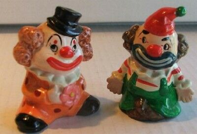 Clown Figures in Ruffled Collars Colorful