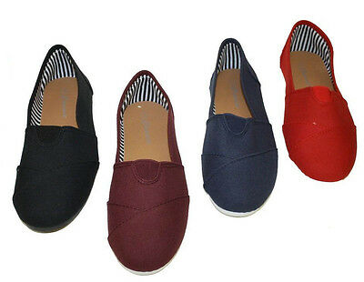 Women Canvas Slip-on Flats Assorted Colors With Soft Sole @ Best Prices $$$