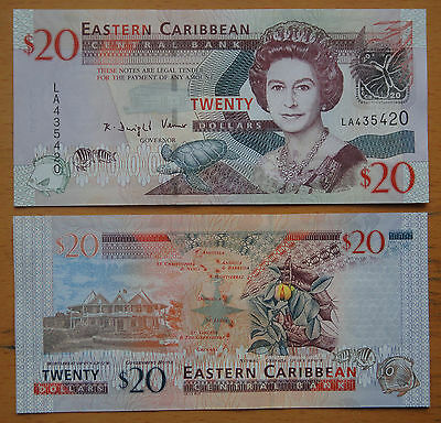 Eastern East Caribbean Paper Money $20 UNC