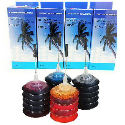 4 x Recarga Tinta Color para Impresora de Inyeccion Epson Brother Samsung 558R