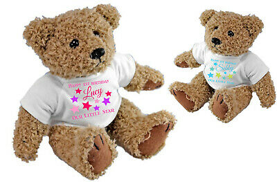 Personalised Happy 1st Birthday Teddy Bear - 2nd 3rd 4th & any year available