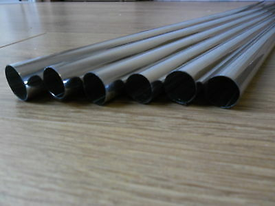 6 X 100cm 1M NEW CHROME 15mm RADSNAPS RADIATOR PIPE COVERS  - FREE UK DELIVERY