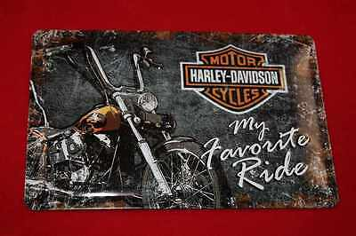 Blechschild Harley Davidson Favorite Ride 20x30 cm Blechschilder Schild USA Sign