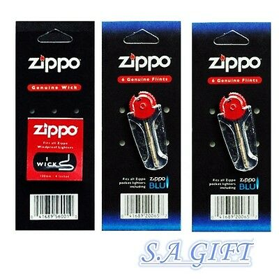 Zippo lighter Flint+Wick value Packs of 3 Value Pack (2x Flints and 1x wick)