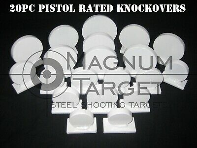 20pc. Coin Challenge Knock-overs-Steel Shooting Targets-.22LR Rim-fire & Pistol