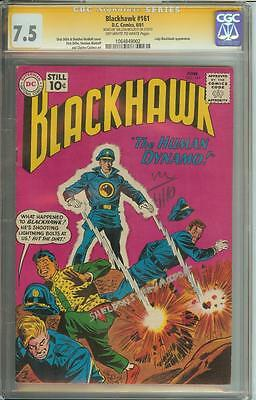 Blackhawk #161 Ss Cgc 7.5 Signed By Sheldon Moldoff