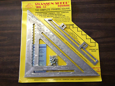 Swanson tool 00107 Big 12 The Complete Framing Square Made in  USA