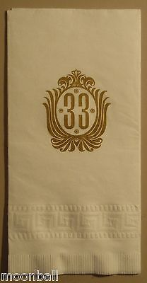 RARE! Original DISNEYLAND Club 33 Paper Napkin UNUSED MINT
