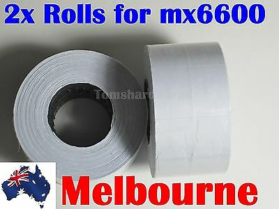 2x Rolls of White Paper Labels 16x23mm for Motex MX-6600 / CN-6600 / 6600 etc