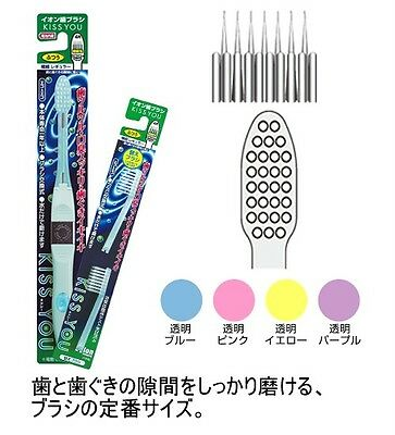 KISS YOU  regular size medium  ionic toothbrush + 2 replace  From Japan