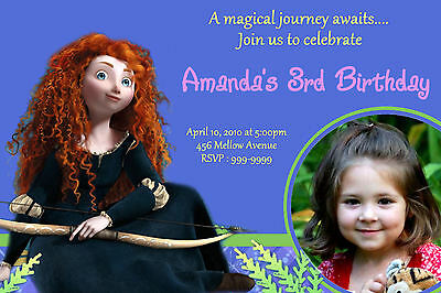 Custom Personalized Disney Brave Merida 24hr Service UPRINT 4x6 or 5x7