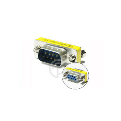 2x Serial RS232 DB9 Male to DB9 Female Adapter