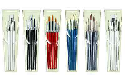 Pro Arte Artist Paint Brush Sets Assorted Sizes Watercolour Acrylic Oil Craft