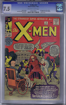X-Men #2 Marvel 1963 CGC 7.5 (VERY FINE - )