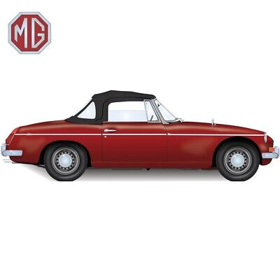 MGB Convertible Top With 3 Plastic Windows 1971-1980 EZ on Brand