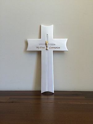 My First Communion Day Religious Wall Cross Gift