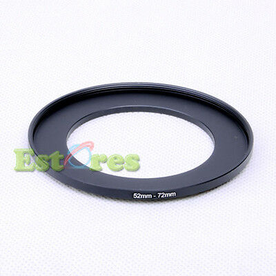 52mm-72mm 52-72 mm 52 to 72 Metal Step-Up Lens Filter Ring Adapter Black