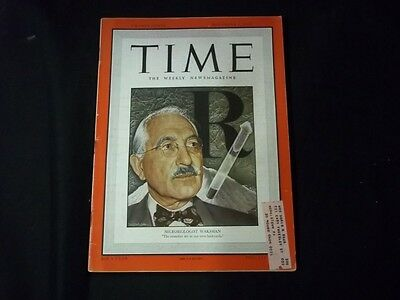 1949 NOVEMBER 7 TIME MAGAZINE - MICROBIOLOGIST WAKSMAN - FRONT COVER - F 977