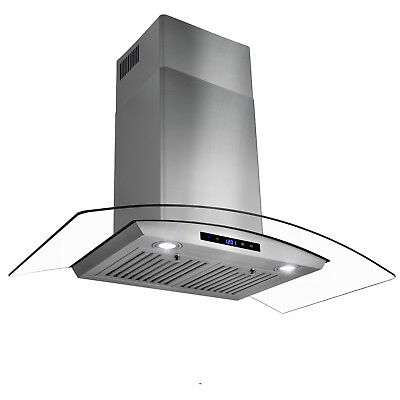 """36"""" Wall Mount Stainless Steel & Glass Range Hood Stove Vents GTC"""