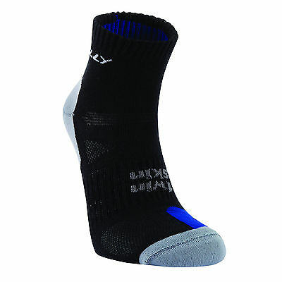 Hilly Twin Skin Anklet Anti Blister Sports Running Socks - Black/Blue **SALE**