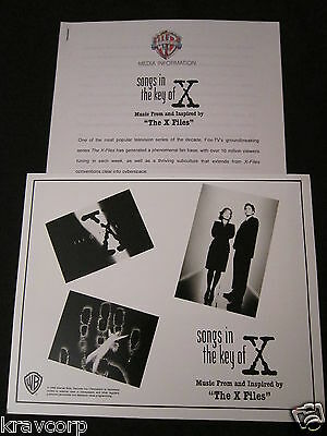 Foo Fighters/nick Cave 'X-Files: Songs In The Key Of X' 1996 Press Kit