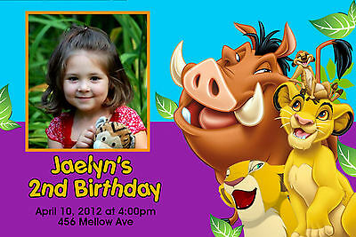 Custom Personalized Disney Lion King  24hr Service UPRINT 4x6 or 5x7